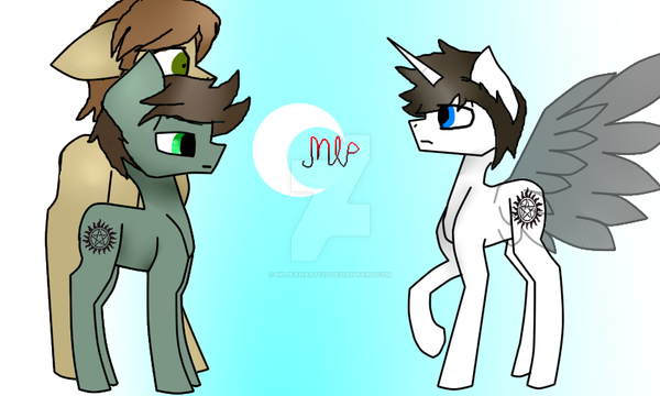 can anyone guess who these are supposed to be?? by mlpfanart123