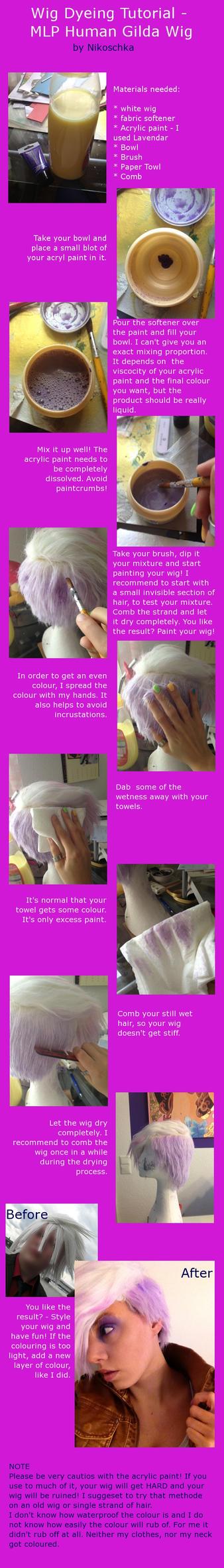 Wig Dyeing Tutorial - Human Gilda by Nikoschka
