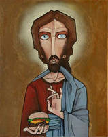 Jesus Burger by humangarbage