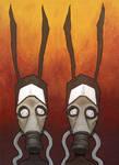 Nuclear Rabbits with Gasmasks
