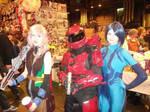 Master Chief, Cortana and Lightning Farron cosplay