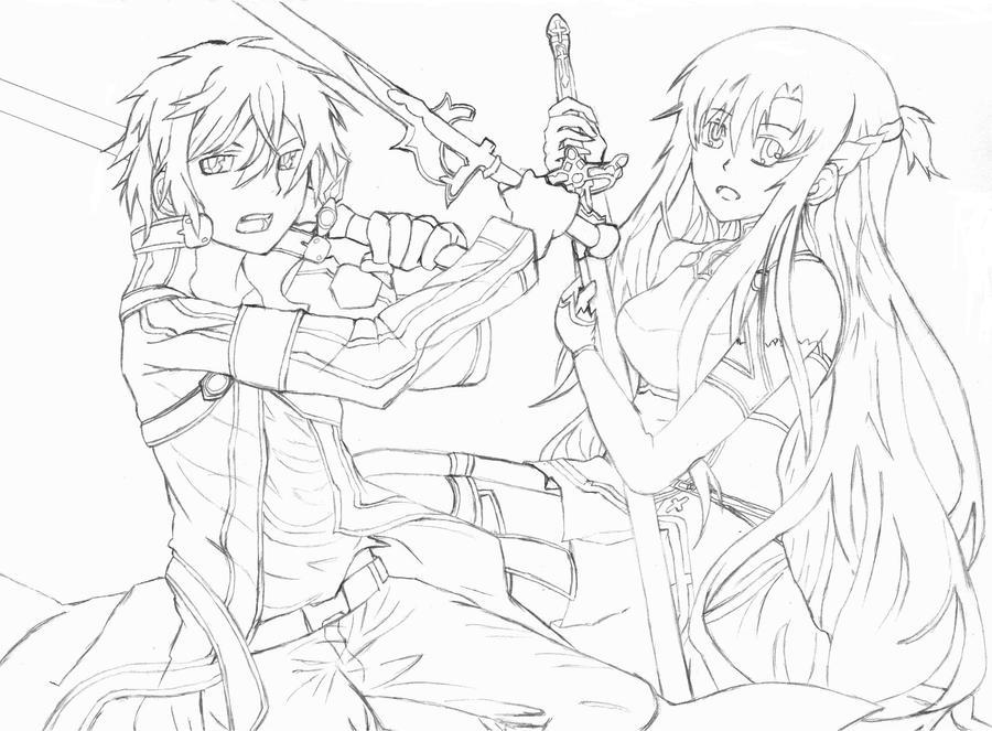 Sword art online sketch by kjang on deviantart for Sketch it online