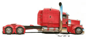 Big Red Peterbilt