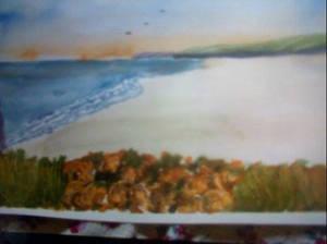 Seascape in watercolour