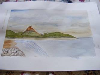 Bamburgh castle - watercolour by Heatherag