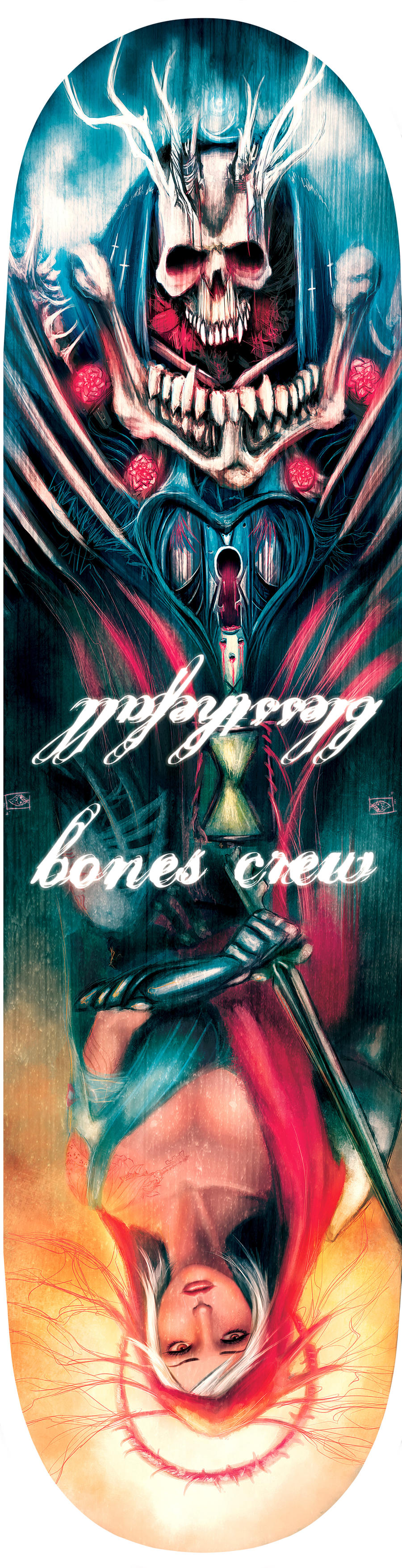Blessthefall Bones Crew Skatedeck by d3athb3rrymon