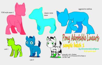 Pony Adoptables - Sample Batch 1