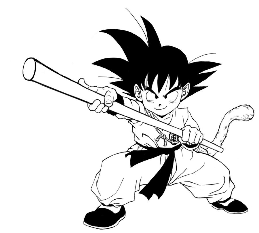 Gotenks coloring pages dragon ball super gotenks best for Kid goku coloring pages