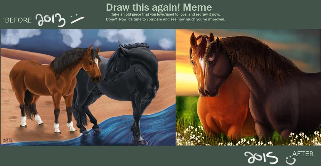 Draw This Again Meme- Warhorse by ChellytheBean