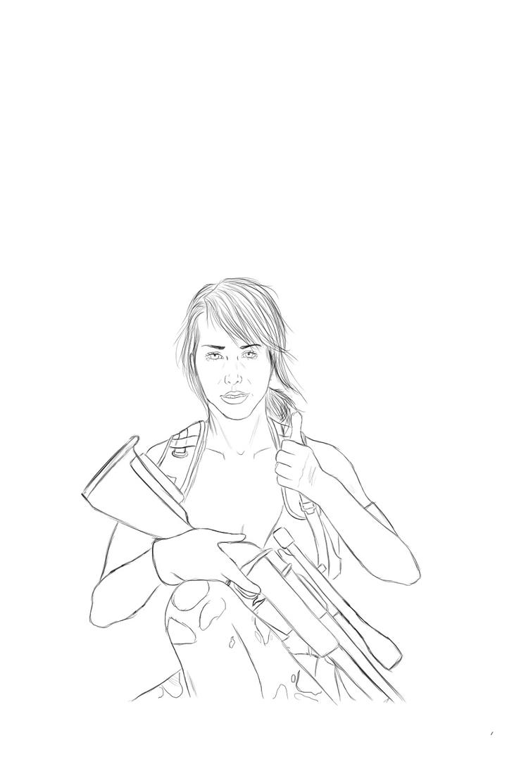 MGSV: PHANTOM PAIN- Quiet Thumbs Up Sketch by ChellytheBean