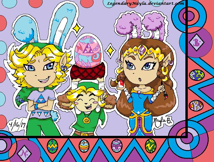 Link, Toon Link, and Zelda by LegendaryNayla