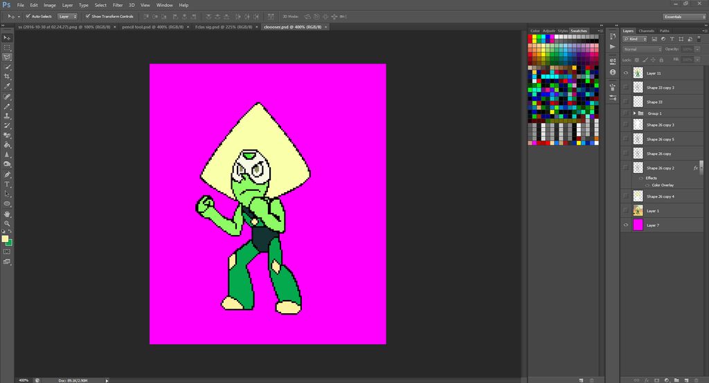Peridot Spriting (W.I.P) by TheFclass97