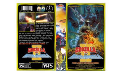 Godzilla vs Mechagodzilla II custom VHS cover