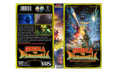 Godzilla vs SpaceGodzila custom VHS cover