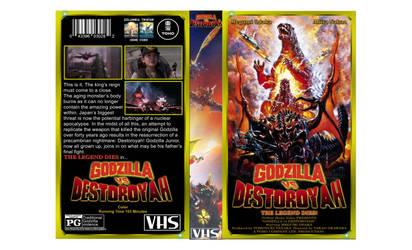 Godzilla vs Destoroyah custom VHS cover