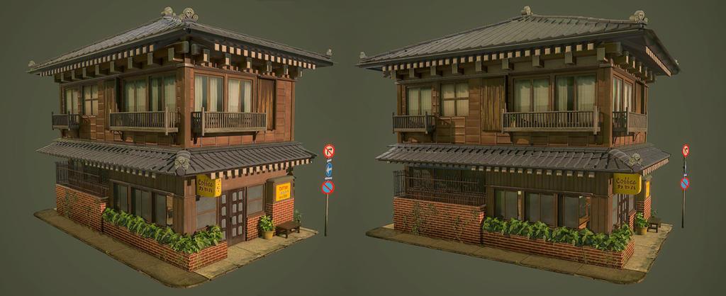 Yanaka Coffee Shop by AuDreee
