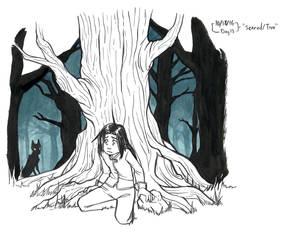 Inktober'16, #13 Scared in the woods by Zil-Zeki