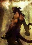 Hellboy painting