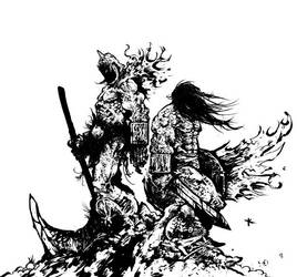 Death Dealer and Conan by TimKelly