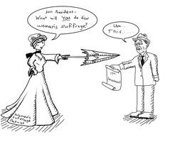 Woodrow Wilson Pol. Cartoon by Phoenix-Pyre
