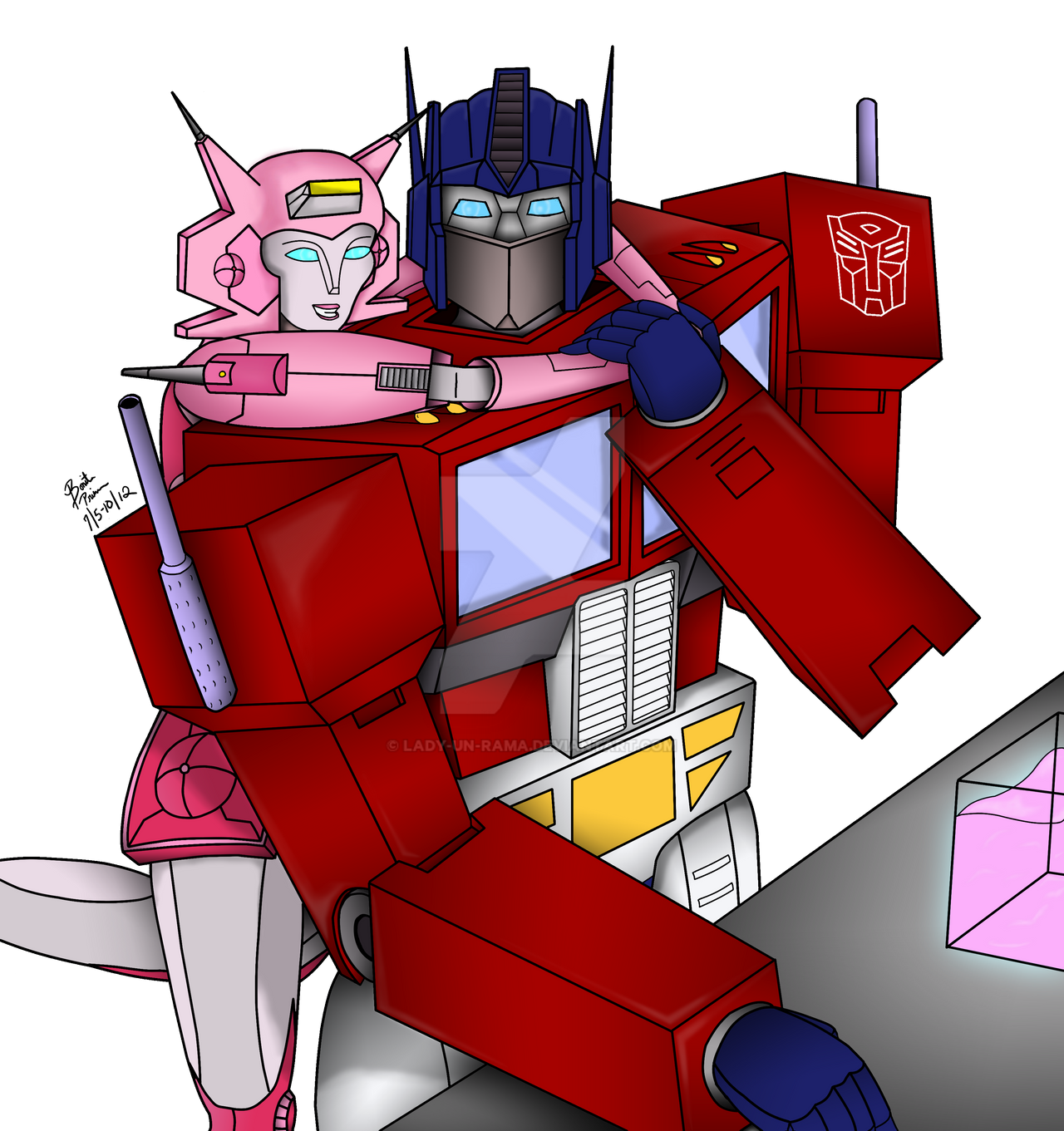 G1 Optimus And Elita-1 -complete- By ElitaOneArts On