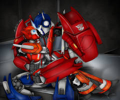 I Need You - Causeway and Optimus Prime by Elita-One-Arts