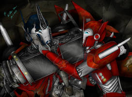 Optimus and Causeway-Stay with me by Elita-One-Arts