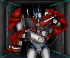 Optimus and Causeway -  A Cherished Moment by Elita-One-Arts