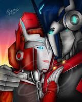 I Love You- TFP Optimus and Causeway by Elita-One-Arts