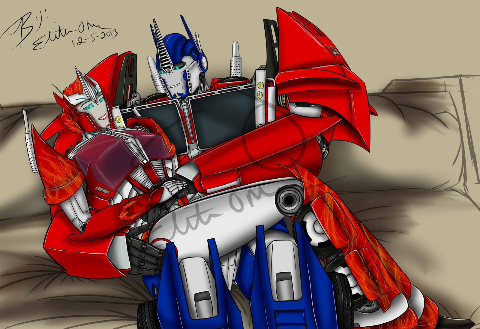 Causeway an optimus expecting by lady elitaone on deviantart