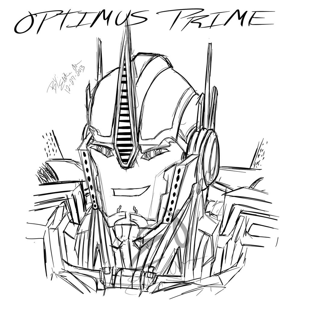 how to draw optimus prime face