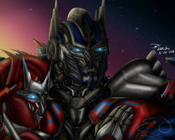 AOE Optimus and Causeway by Elita-One-Arts
