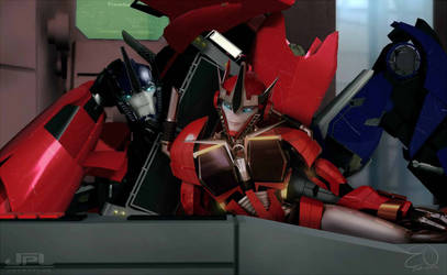 Optimus and Causeway Transformers Prime by Elita-One-Arts