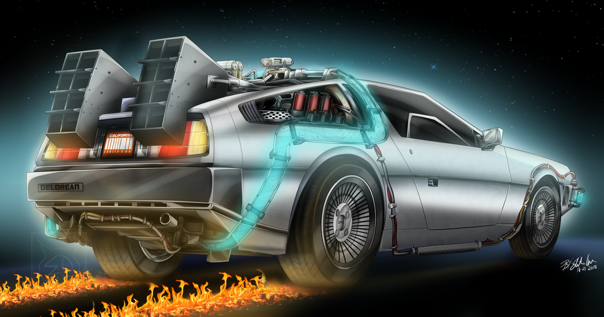 The Delorean Time Machine By Elitaonearts On Deviantart
