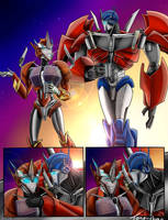 Causeway and Optimus Comic By: Tone-Chan by Elita-One-Arts
