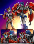 Causeway and Optimus Comic By: Tone-Chan