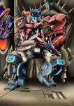 IDW Optimus and Elita by iknas