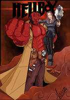 Hellboy and Hillzanora Cover By: whelp-li by Lady-Un-Rama