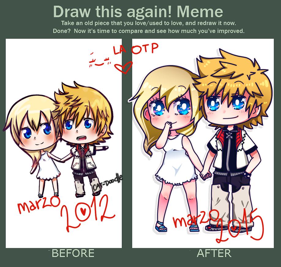 draw it again meme - rokunami - by cat-doodle