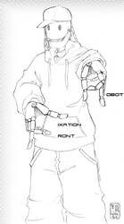 Robot-Fixation-Front Gangsta by robot-fixation-front