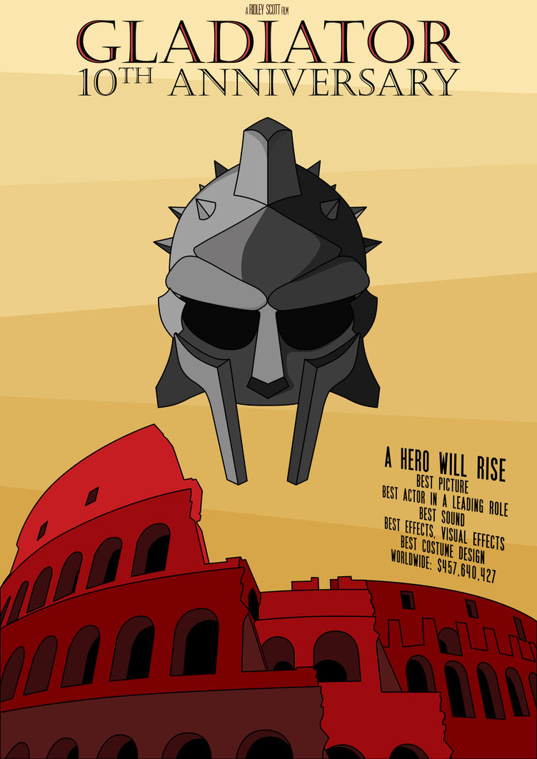 gladiator poster by nukevizard on deviantart