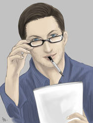 Eames with glasses by belial0811