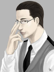 Arthur with glasses by belial0811