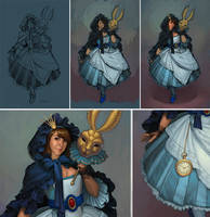 Alice Progress by JessiBeans