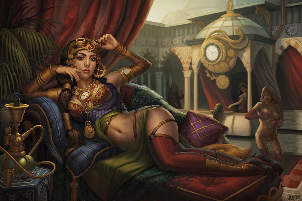 Harem fantasy erotic clips