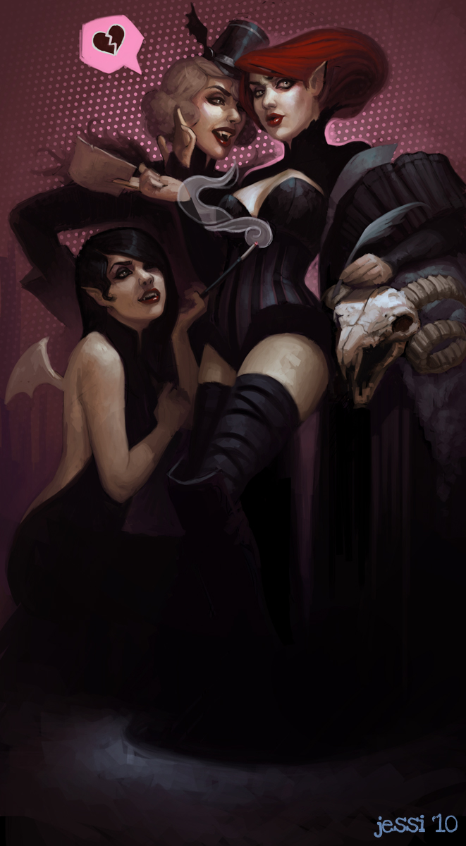 Vampire Courtiers by JessiBeans