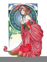 Red Feathers: Courtesan by JessiBeans