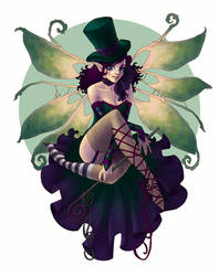 Strange Fairies v 2.0 - Green by JessiBeans