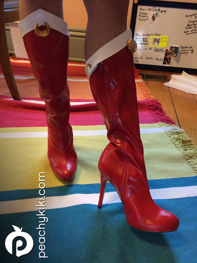 sailor moon boots by peachykiki on deviantart