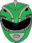 Green Dragon Ranger Helmet